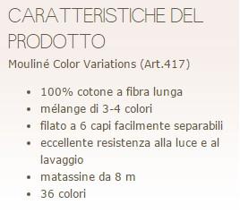 MoulinP Color Variations DMC colori sfumati su Calore di Lana