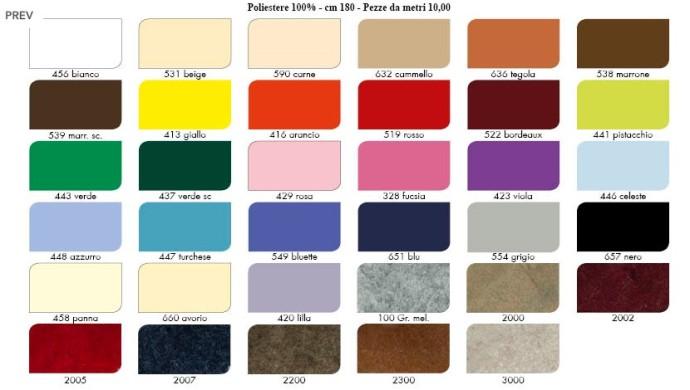 Catalogo colori Panno lencio - Calore di Lana