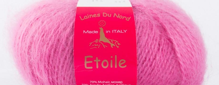 Etoile Laines du Nord - 75% kid mohair 30% acrilico, 50 gr, 150 metri. Ordina online su Calore di Lana www.caloredilana.com
